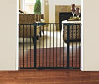 Munchkin Easy-Close Extra Tall and Wide Metal Gate, Dark Grey by Munchkin