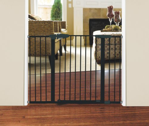 Munchkin Easy Close Extra Tall And Wide Metal Gate Dark
