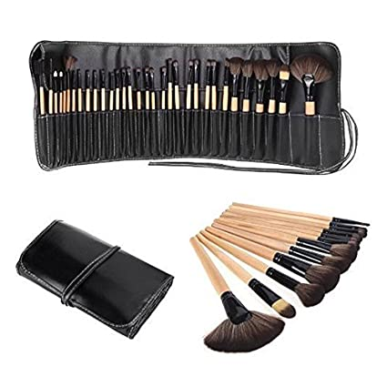Foolzy-Brown-32-Professional-Makeup-Brush-Set-with-Travel-Case(BR-6C)