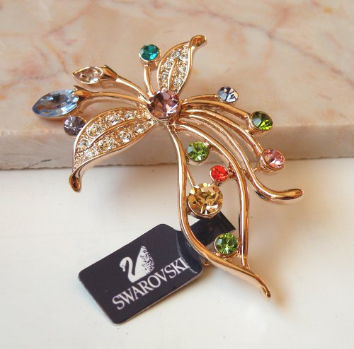 Austrian Swarovski Crystal Fashion Lady Pin Brooch -Beautiful and The Highest Quality Austrian Crystal with Elegant Flower Design 4.0cm W x 3.0 cm H Comes With Free Swarovski Jewelry Box,Attractive and Gorgeous . Super Saving w/100% Satisfaction Guaranteed ! A Great Gift For Your Friends or Loved Ones.