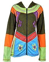 Dames veste multicolore de coton avec capuche et poche Latérale - CHHIRBIRE