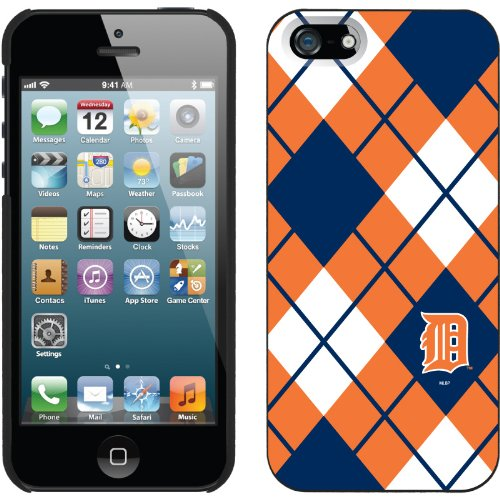 Special Sale Detroit Tigers - Argyle design on a Black iPhone 5 Thinshield Snap-On Case by Coveroo