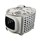 Iconic Pet Deluxe Retreat Foldable Pet House, Light Grey Printing