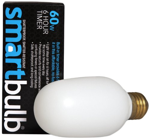 Smart Electric 260 6-Hour Cycle Timer 60-Watt Incandescent Smart Guardian Bulb With Standard Base Socket, Shatter Resistant, Soft White