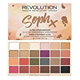 Makeup Revolution SophX Ultra 24 Eyeshadow Palette (Color: Brown)