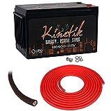 Kinetik HC400-REV 400 Watt 12V Car Audio Power Cell Battery+Power/Ground Wires