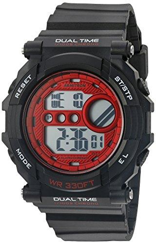 armitron-40-da-uomo-sport-8290bkrd-rosso-accented-digitale-cronografo-nero-opaco-cinturino-in-resina
