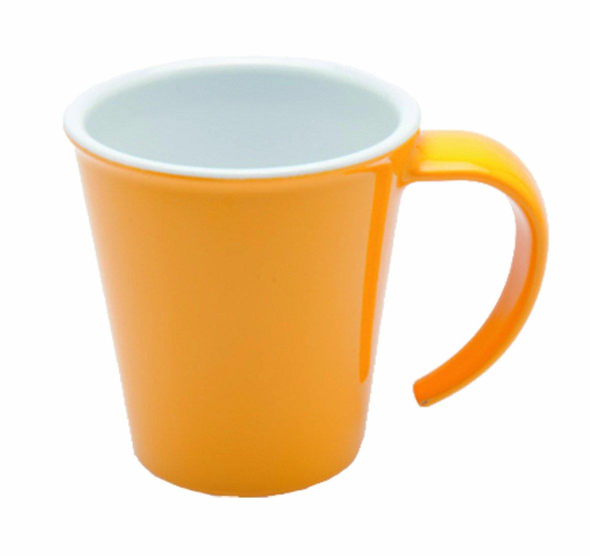 Ornamin Kaffeepott (außen gelb / innen