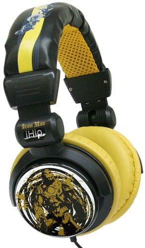 Ihip Mvf10264Im Marvel Iron Man Extreme Dj Headphone, Black/Yellow