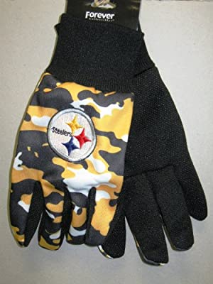 Pittsburgh Steelers Camo Utility Hand Gloves