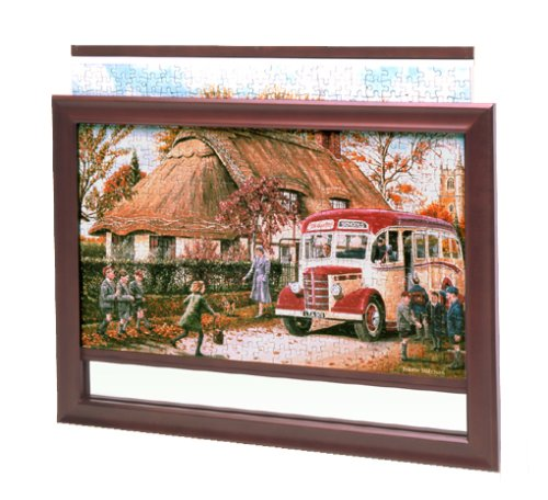 Picture of Fun Jigthings, Jigframe 500 Dark Wood - Jigsaw Puzzle Frame for up to 500 Pieces (B001ICZS3I) (Puzzle Accessories)