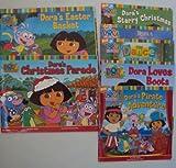 Classroom Library Book Set :Dora Loves Boots - Dora to the Rescue - Dora's Starry Christmas, Dora's Pirate Adventure - Dora's Christmas Parade - Dora Saves a Snow Princess (An Unofficial Box Set) (1484858166) by Christine Ricci