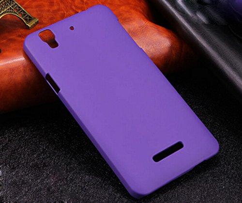 Koko Premium Rubberized Matte Hard Back Case Cover For Micromax YU Yureka -Purple