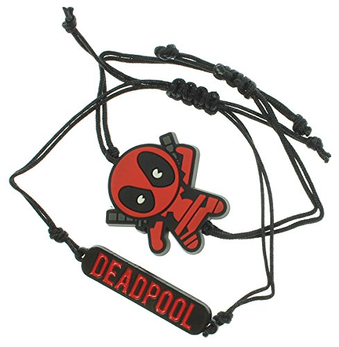 Chibi Marvel Deadpool kawaii Character design 2pc Set Bracciale