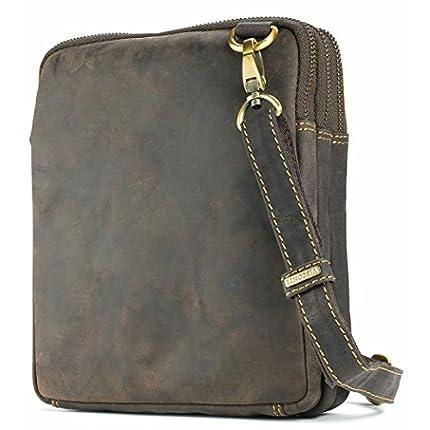 Visconti Leather Small Shoulder Bag Messenger Cros...