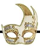 Luxury Mask Men's Vintage Design Venetain Prom Mardi Gras Musical Checkered Masquerade