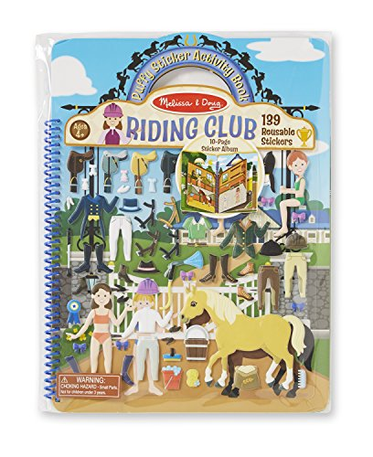 Melissa & Doug Puffy Sticker Activity Book - Riding Club - 1