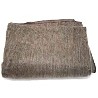 Super Soft 100% Alpaca Wool Reversible Throw Blanket Dark Brown Earth ToneBlack Highlights