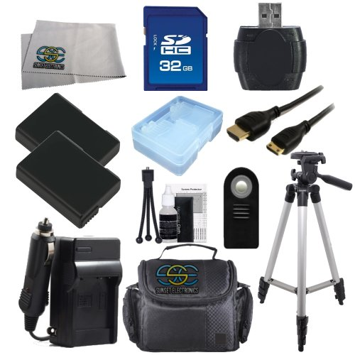 EN-EL14 Bonus Kit for Nikon D5100, D3100, D3200, D5200, D5300, Coolpix P7000, P7100, P7700. Package Includes: 2x ENEL14 Replacement Batteries, 32GB Memory Card, SD Card Reader, Full Size Tripod, Large Carrying Bag & More..!