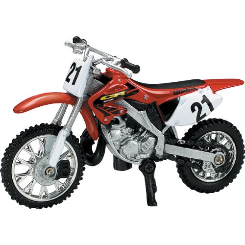 New Ray Honda CR125R Replica Motorcycle Toy - Red / 1:32 Scale
