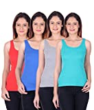 White Moon Camisole Slips - Pack of 4