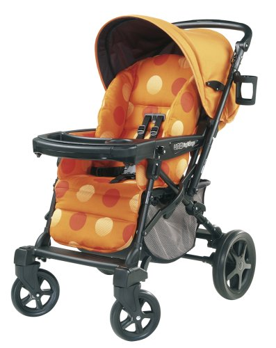 Peg Perego Uno Convertible Carriage To Stroller System In Revi Orange front-269837
