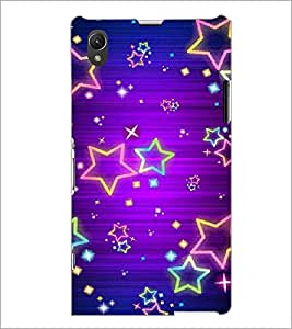 PrintDhaba Stars D-2124 Back Case Cover for SONY XPERIA Z1 (Multi-Coloured)