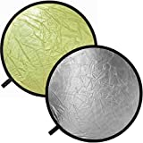 "Impact Collapsible Circular Reflector Disc - Gold/Silver - 42"" ~ Impact"