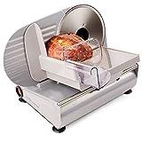 Andrew James - Elektrische Präzisions-Aufschnittmaschine Allesschneider - 19cm Klinge + 2 Extra Klingen für Brot und Fleisch - 2 Jahre Garantie