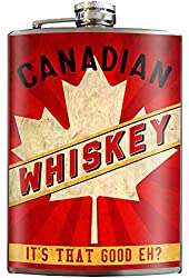 Canadian Whiskey Stainless Steel Flask