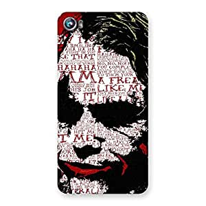 Gorgeous Insane Writing Back Case Cover for Micromax Canvas Fire 4 A107