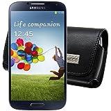 MTT Quertasche mit Gürtelclip und Sicherheitsschlaufe für das Samsung Galaxy S4 Active i9295 in schwarz
