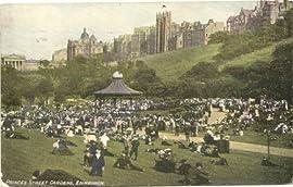 1907 Vintage Postcard Princes Street Gardens Edinburgh Scotland