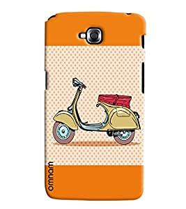 Omnam Printed back cover artistic scooter impression Back Cover Cases for LG G Pro Light