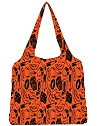 Snoogg Daily Life Pattern Womens Jhola Shape Tote Bag