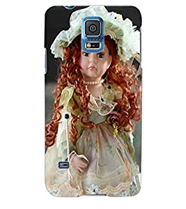 ColourCraft Cute Doll Back Case Cover for SAMSUNG GALAXY S5
