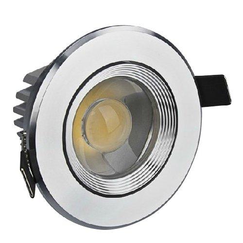 Brightsky 3W Round White Cob Led Ceiling Light Recessed Lamp Spotlight Downlight Bulb With Len Ac85V-265V