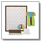Zutano Elephant 4 Piece Baby Crib Bedding Set - Lime