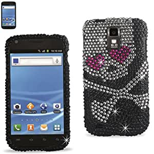 Reiko RKDPC-SAMT989-03 Premium Rhinestone Diamond Bedazzled Bling Hard Shell Snap-On Protector Case Cover for T-Mobile Models and Galaxy S2 - 1 Pack - Retail Packaging - Multi