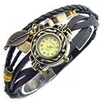 SINCEDA Women's Watch Black Maple Lea...