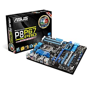 ASUS P8P67 PRO LGA 1155 SATA 6Gbps and USB 3.0 Supported Intel P67 DDR3 2400 ATX Motherboard