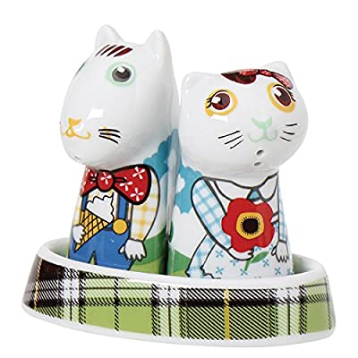 Top Choice Hello Picnic Salt Dog and Pepper Cat, Multi-Colour by Top Choice