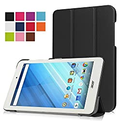 Acer Iconia One 8 B1-850 case, Pasonomi Ultra Slim Lightweight PU Leather Folio Case Stand Cover for Acer Iconia One 8 B1-850 8