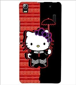 PrintDhaba Kitty D-4937 Back Case Cover for LENOVO K3 NOTE (Multi-Coloured)