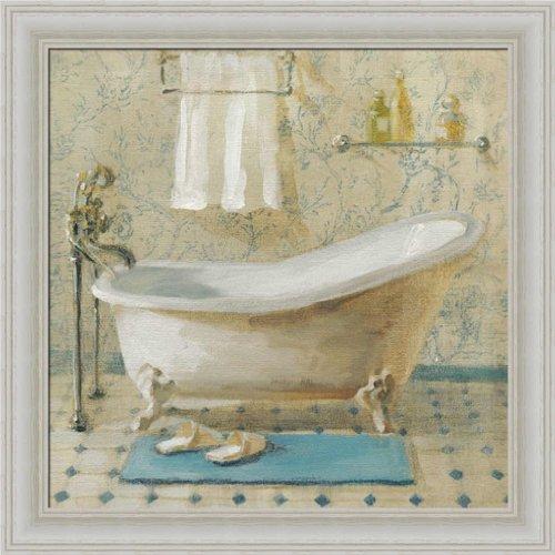 Victorian Blue Bath Iii By Danhui Nai Bathroom Spa Wall Art Print Framed Décor front-923115
