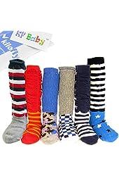 KF Baby Non-Skid Ruffle Calf Socks Value Pack [Set of 6 pairs], 6 - 18 Months