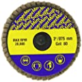 "Sundisc 18022 Type R Abrasive Super Mini Flap Disc, Zirconia, 3"" Diameter, 80 Grit (Pack of 10)"