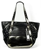 "Hot Sale Kenneth Cole Reaction ""Prince Street"" Black/metallic Tote Handbag"