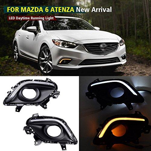 2pcs White Led Daytime Running Light Drl Fog Lamp For Mazda 6 2005 2008: Mazda 6 Headlight, Headlight For Mazda 6