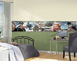 U s army mural style wallpaper border for Army wallpaper mural